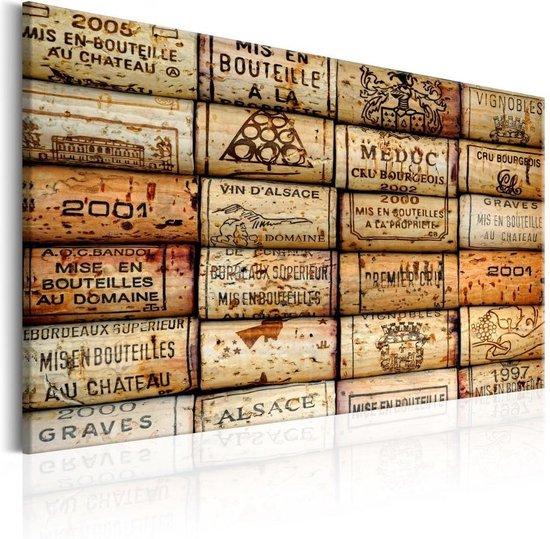 Schilderij - Wijngaard van Herinneringen , kurken