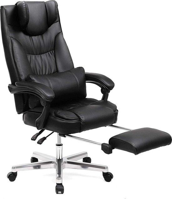 Luxe Leren Bureaustoel.Bol Com Grote Orthopedische Leren Bureaustoel Op Wielen Met