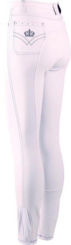 Epplejeck Rijbroek  Sparkle Full Grip Kids - White - 140