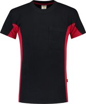 Tricorp T-shirt Bi-Color - Workwear - 102002 - Navy-Rood - maat XL