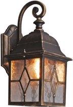 QAZQA Londen - Wand lantaarn - 1 lichts - 150 mm - zwart