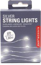 Kikkerland lichtsnoer met led lampjes zilver