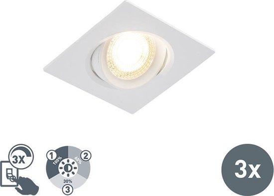QAZQA miu - Inbouwspot - 3 lichts - L 92 mm - Wit