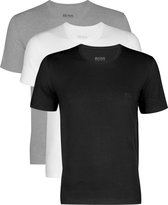 Actie 3-pack: Hugo Boss T-shirts Regular Fit - O-hals - zwart - wit en grijs
