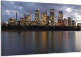 Canvas schilderij Uitzicht | Grijs, Blauw, Wit | 120x70cm 1Luik