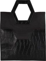 MYOMY My Treasure Bag Dames Shopper - Croco Black