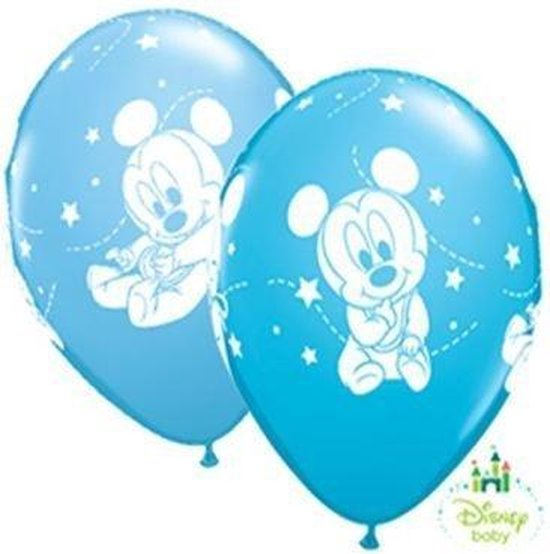 Disney Baby Mickey Mouse ballonnen ø 28 cm. 6 st.