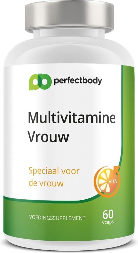 Multivitamine Vrouw - 60 Vcaps - PerfectBody.nl