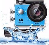 H9 4K Ultra HD1080P 12MP 2 inch LCD-scherm WiFi sportcamera, 170 graden groothoeklens, 30 m waterdicht (blauw)