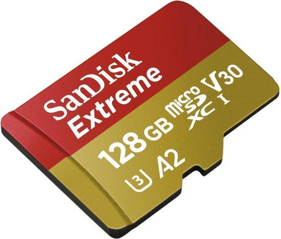 Sandisk Extreme flashgeheugen 128 GB MicroSDXC Klasse 3 UHS-I