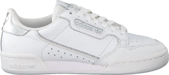 adidas Continental 80 W Dames Sneakers - Cloud White/Cloud White/Silver  Met. - Maat 39 1/3
