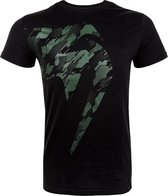 Venum Tecmo Giant T-Shirt - Zwart / Khaki groen-XL