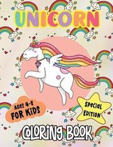 Unicorn Coloring Book: A Collection of Full Page Unicorns Illustrations for Girls Ages 4-8, Cute Unicorns Easy and Fun Patterns to Color for