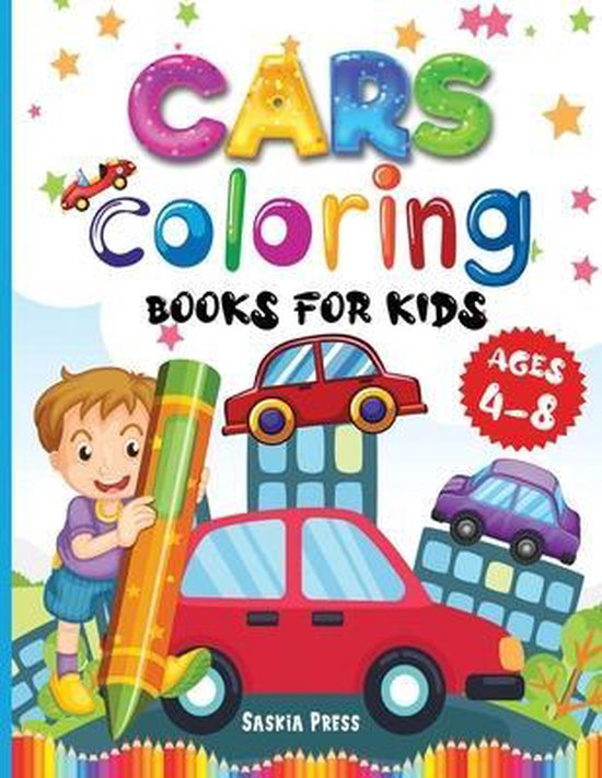 Car Coloring Book For Kids Ages 4-8