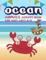 Ocean animals activity book for kids ages 4-8