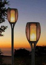 4x Stuks - Tuinverlichting op Zonne-Energie - Solar Fakkel met Sensor - Tuinverlichting - Buitenverlichting