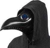 Verkleedmasker - Snavelmasker - Pestdokter - PU lederen pest masker - Plague mask - Steampunk masker - Zwart - Universeel