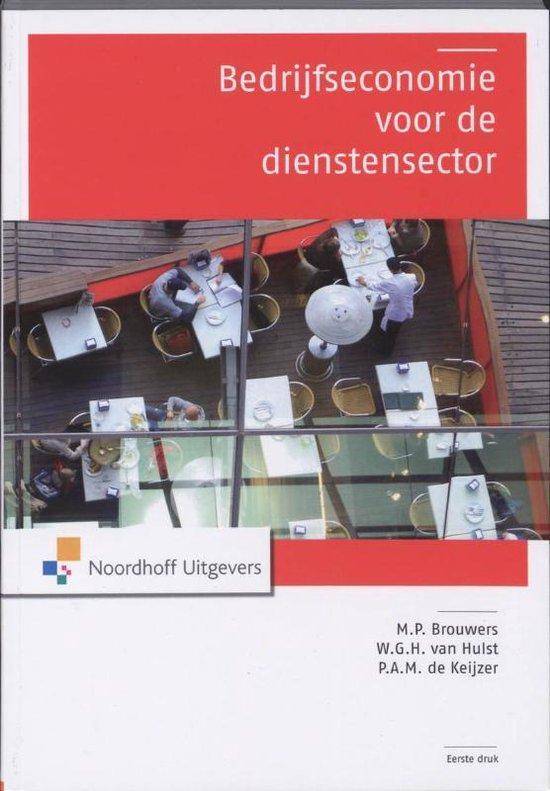 Boek cover Bedrijfseconomie voor de dienstensector van M.P. Brouwers (Paperback)
