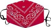 Mondkapje Paisley - Wasbaar mondmasker - Katoen - Herbruikbaar - Boerenzakdoek bandana patroon