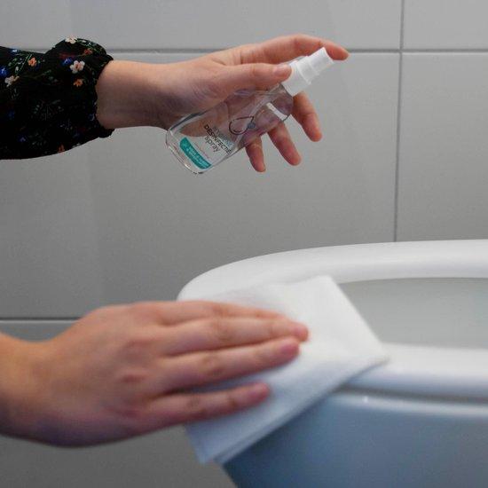 Buttler hygiëne spray voor handen en oppervlakken op alcoholbasis (toiletbrilreiniger) met duurzame navulzak
