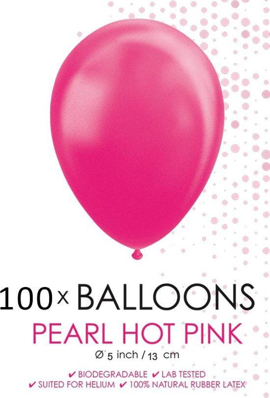 100 Kleine ballonnen parel pink.