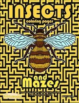 Insects Coloring Pages and Mazes