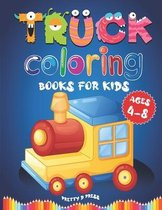 Truck Coloring Books For Kids Ages 4-8