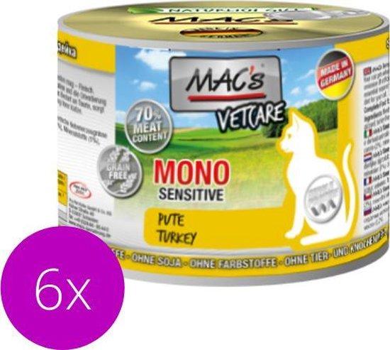 MAC's Vetcare Kattenvoer - Mono proteïne - Puur Kalkoen