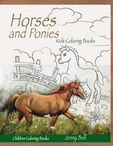 Horses and Ponies Children Coloring books
