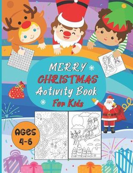 Merry Christmas Activity For Kids Ages 4-6