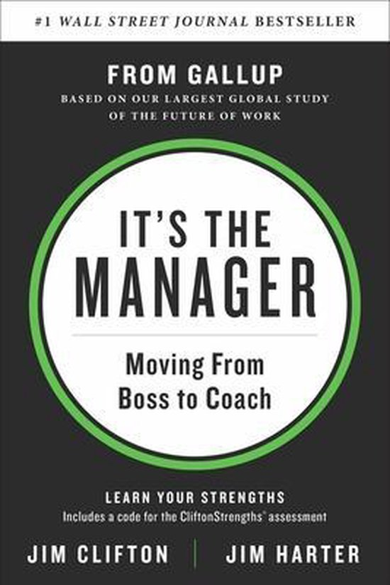 Boek cover Its the Manager van Jim Clifton (Hardcover)