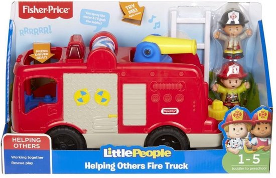 Fisher-Price Little People Grote Brandweerauto - Franstalig