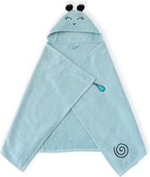 Milk&Moo - Baby Badcape - Babyhanddoek met Kap - 0-2 Jaar - Blauw