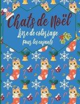 Chats De Noel Livre De Coloriage Pour Les Enfants