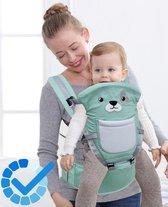 Hoge kwaliteit Baby Draagzak Flip 4-in-1 Converteerbare babydrager(Groen)