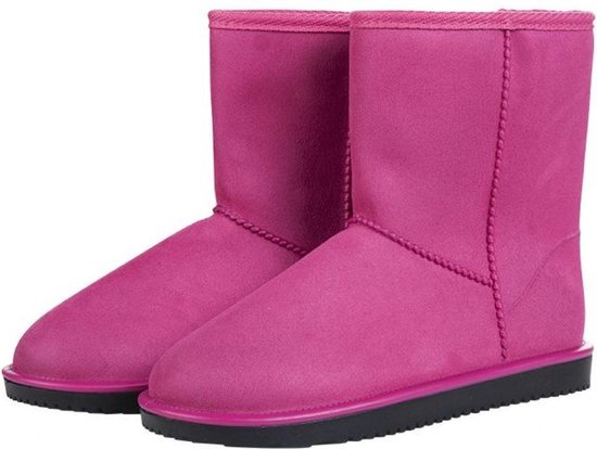 allweather Davos  waterdicht en bontgevoerde laars / (stal)schoen roze maat 34