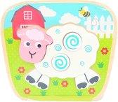 Houten Vormenpuzzel Schaap - Simply for Kids - My First Puzzel - Vanaf 1 jaar