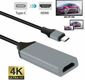 DrPhone UC5 - USB-C adapter - USB-C naar HDMI - Grijs/ Zwart