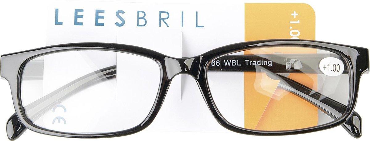 Leesbril Plastic Zwart Unisex +1.0 Dpt kopen