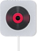Innvision CD speler met radio en Bluetooth - Retro design - Ook voor kinderen - CD / Radio / USB / AUX / Bluetooth - Wit