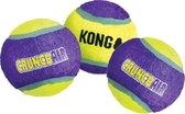 Kong hond Crunch-air tennisbal, medium net a 3 stuks.