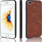 Leren hardcase iPhone 7/8/SE 2020 - bruin/ zwart