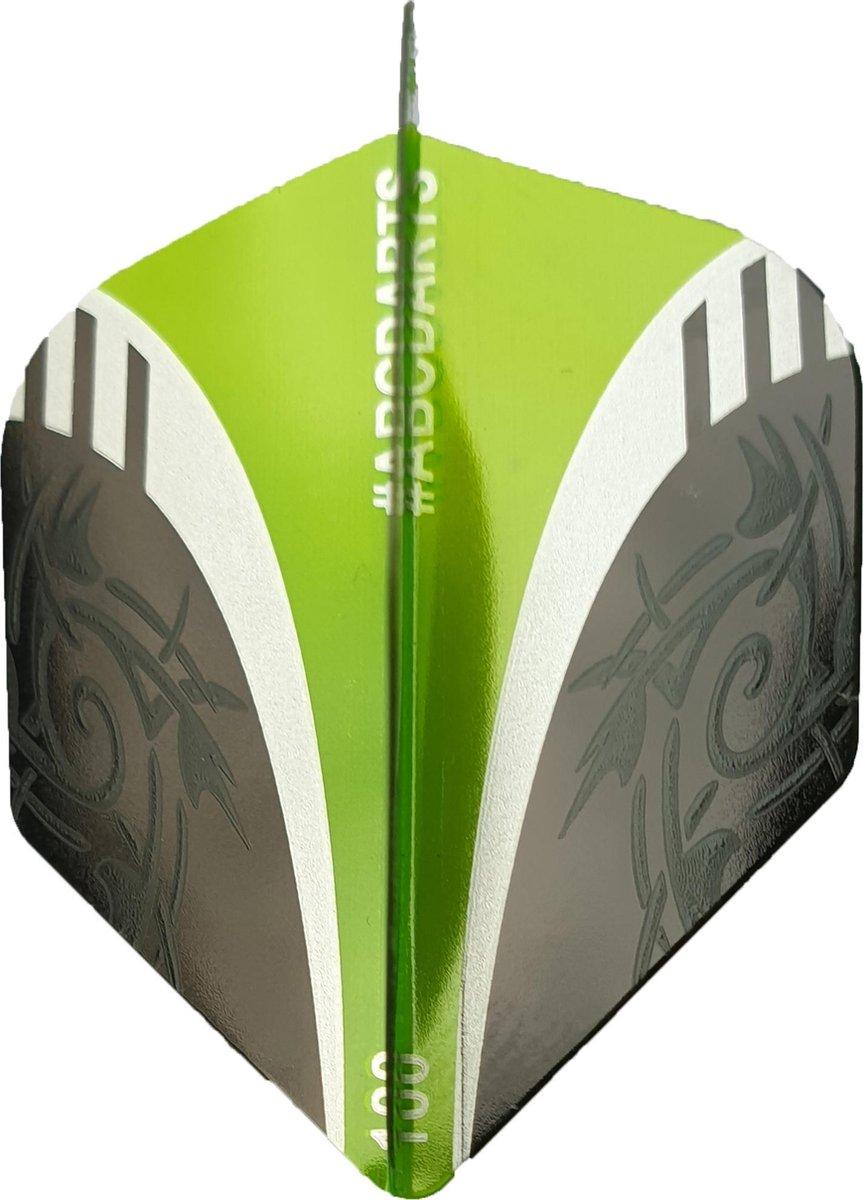 ABC Darts Flights - Extra Stevig - Tribal Groen - 10 sets (30 stuks Dart Flights)