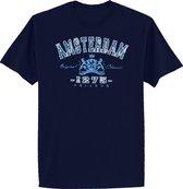 T-shirts adults - Jeans 3x leeuw - Navy - L