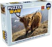 Puzzel 1000 stukjes volwassenen Schotse Hooglanders  1000 stukjes - Schotse hooglander met wollige vacht  - PuzzleWow heeft +100000 puzzels