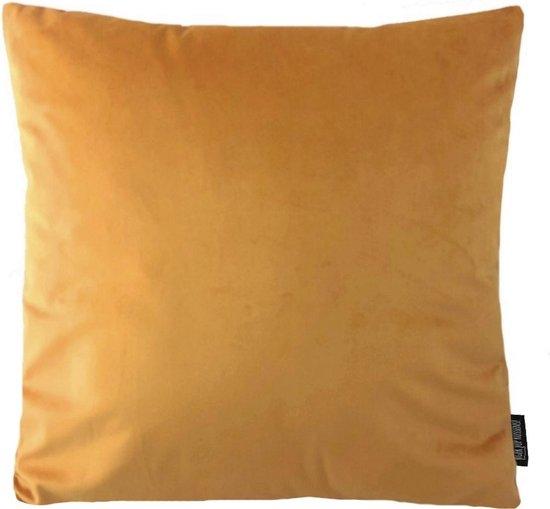 Velvet Oranje/Goud Kussenhoes   Fluweel - Polyester   45 x 45 cm