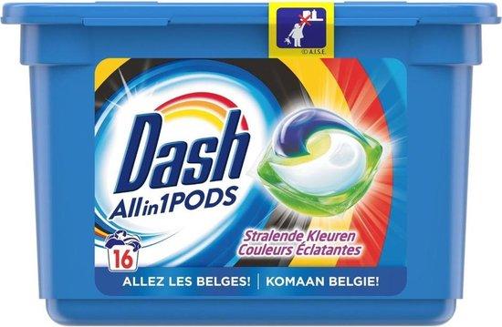 Dash Wasmiddel All in 1 pods Stralende kleuren - 16 waspods