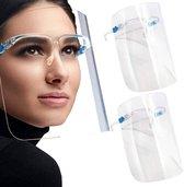 S&L. 4 stuks Transparant Brildrager Mondmasker
