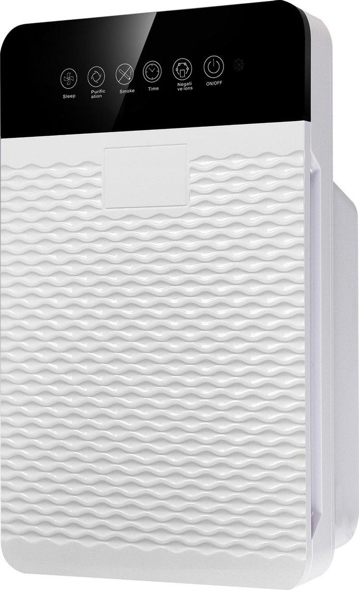 Pro-Care Luchtreiniger PM2.5, HEPA, ION 5 lagen filter, Wit 280m3h 6 buttons bediening met afstandsbediening