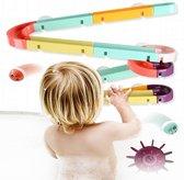 Bad Speelgoed | Knikkerbaan | Water Knikkerbaan | Kleef Speelgoed Baan | Water Splash Track | Kinder Waterspeelgoed | Easy Stick on Ball Track | 44 Delig
